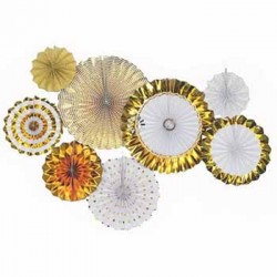 Pinwheel Decoration Set - Gold (set of 8)
