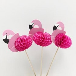 Food Topper - Flamingo, 15pcs