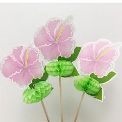 Food Topper - Tropical Flower, 10pcs