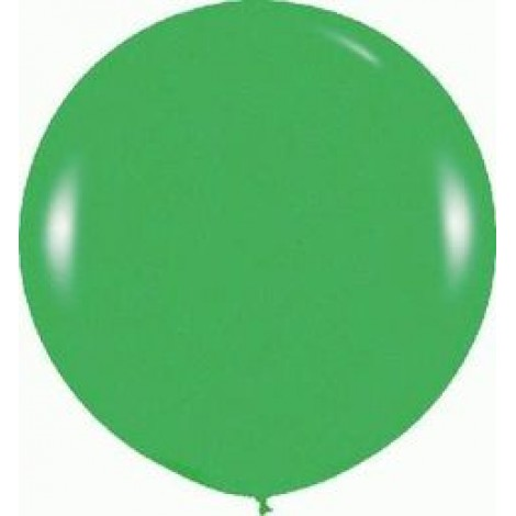 "36"" Round Fashion Green Latex Balloon (with helium)"