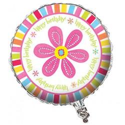 """Pink Flower 18"""" Foil Balloon"""