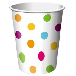 Happy Dots 9oz Paper Cup, 8pcs
