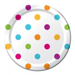 "Happy Dots 7"" Paper Plate, 8pcs"