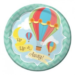 "Up & Away 7"" Paper Plate, 8pcs"