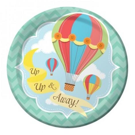 "Up & Away 7"" Paper Plate, 8pcs"