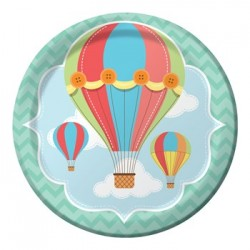 "Up & Away 9"" Paper Plate, 8pcs"