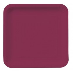 "Burgundy 9"" Paper Plate, 18pcs"