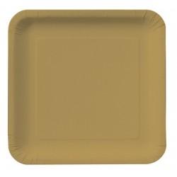 "Glittering Gold 9"" Paper Plate, 18pcs"