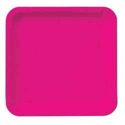 "Hot Magenta 9"" Paper Plate, 18pcs"