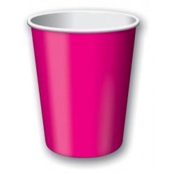 Hot Magenta 9oz Paper Cup, 24 pcs