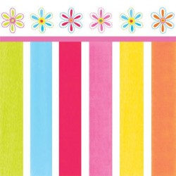 Pink Flower Beverage Napkin 24.8 x 24.7cm, 16pcs