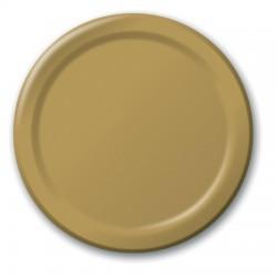 "Glittering Gold 9"" Paper Plate, 24pcs"