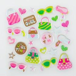 Glitter Sticker - Girl's Time, 1 sheet