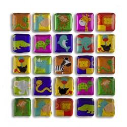 Glitter Sticker - Wildlife, 1 sheet