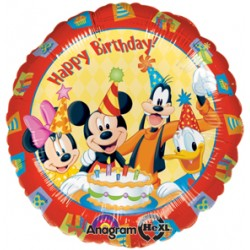 "Mickey & Friends Happy Birthday 17"" Foil Balloon"