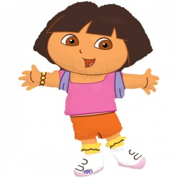 "Dora Shape Foil Balloon - 26"" W x 41"" H"