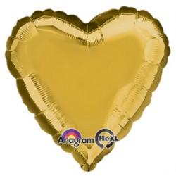 "18"" Heart Metallic Gold Foil Balloon"