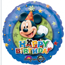 "Mickey Birthday Stars 17"" Foil Balloon"