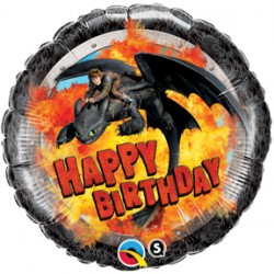 "How To Train Your Dragon: Hiccup & Toothless Birthday 18"" Foil Balloon"