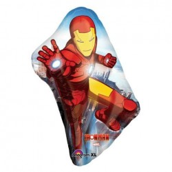 "Iron Man Armored Adventures Shape Foil Balloon - 24"" W x 38"" H"