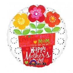 "Mother's Day Flower Pot 18"" Foil Balloon"