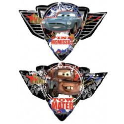 "Cars Finn Mcmissile/Tow Mater Foil Balloon - 33"" W x 23"" H"