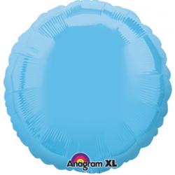 "18"" Circle Pale Blue Foil Balloon"