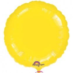 "18"" Circle Metallic Yellow Foil Balloon"