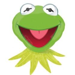 "Sesame Street Kermit the Frog Foil Balloon - 28"" W x 35"" H"
