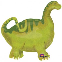"Baby Brachiosaurus Air Walker Foil Balloon - 23"" W x 24"" H"