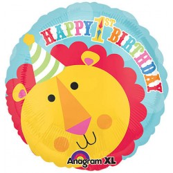"Fisher Price Lion 1st Birthday Circus 17"" Foil Balloon"