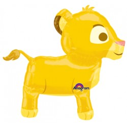 "Lion King Simba Airwalker Foil Balloon - 30"" W x 27"" H"
