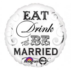 "Eat Drink be Married 17"" Foil Balloon"
