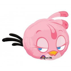 "Angry Birds: Pink Bird Foil Balloon - 27"" W x 27"" H"