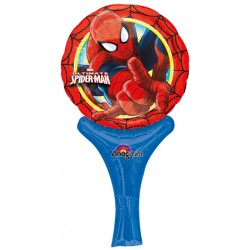 "Spiderman Inflate-A-Fun Foil Balloon - 6"" W x 12"" H"