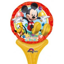 "Mickey Inflat-A-Fun Foil Balloon - 6"" W x 12"" H"