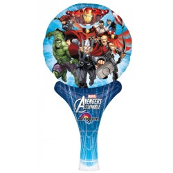 "Avengers Assemble Inflat-A-Fun Foil Balloon - 6"" W x 12"" H"
