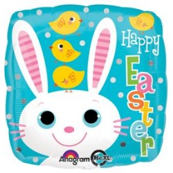 "Happy Easter Bunny Chicks 17"" Foil Balloon"