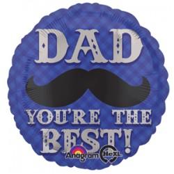 """Dapper Dad Mustache 17"""" Foil Balloon"""