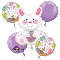 Easter Enchantment Bouquet Foil Balloon of 5 (with weight)