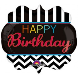 "Birthday Celebration Foil Balloon - 30"" W x 27"" H"