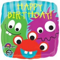 """Monster of a Birthday 17"""" Foil Balloon"""