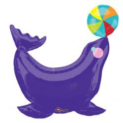 """Circus Seal Foil Balloon - 33"""" W x 33"""" H"""