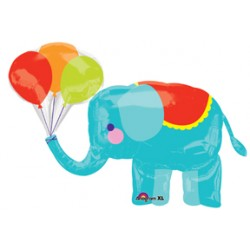 "Circus Elephant Foil Balloon - 43"" W x 33"" H"