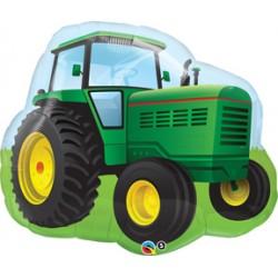 """Farm Tractor Foil Balloon - 30"""" W x 27"""" H"""