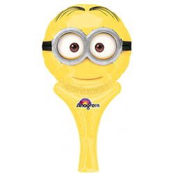 "Despicable Me Minion Inflate-A-Fun Foil Balloon 6""W x 12""H"