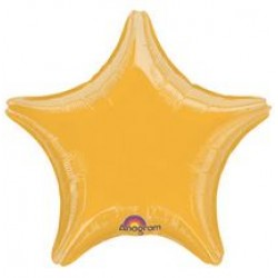 "19"" Star Metallic Gold Foil Balloon"