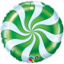"Candy Swirl 18"" Green Foil Balloon"