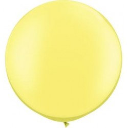"30"" Round Pearl Lemon Chiffon Latex Balloon (with helium)"