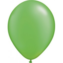 """11"""" Round Pearl Lime Green Latex Balloon (with helium)"""